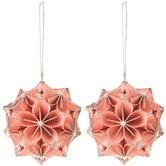 Pink Flower Ball Ornaments