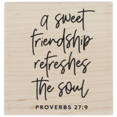 Proverbs 27:9 Rubber Stamp
