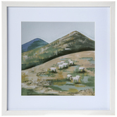 Sheep Flock Framed Wall Decor