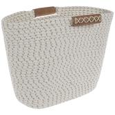 Cream & Beige Woven Oval Basket
