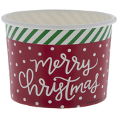 Merry Christmas Paper Snack Cups