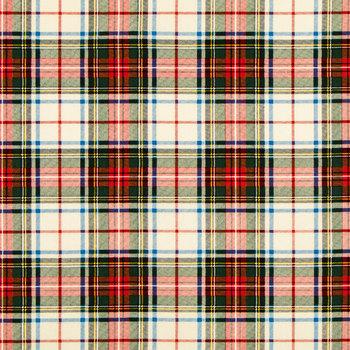 Traditional Plaid Duck Cloth Fabric
