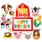 Barnyard Birthday Cutouts