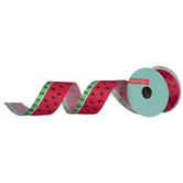 "Watermelon Wired Edge Satin Ribbon - 1 1/2"""