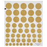 Gold Glitter Polka Dot Stickers