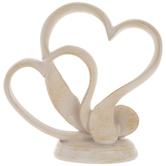 Cream Hearts Cake Topper