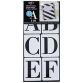 "Modern Serif Font Stencils - 2"""