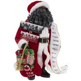 Santa With List & Gift Sack