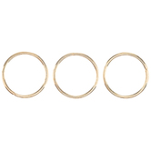 18K Gold Plated Split Rings - 9mm