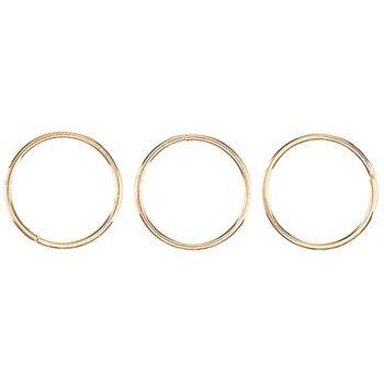 18K Gold Plated Split Rings - 9mm