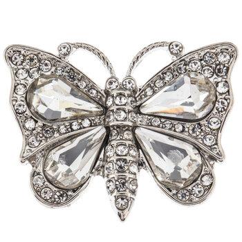 Rhinestone Butterfly Pendant