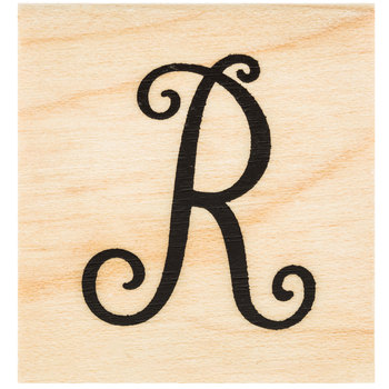 Script Letter Rubber Stamp - R