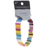 Multi-Color Enamel Beaded Bracelet