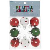 Polka Dot Mini Ornaments