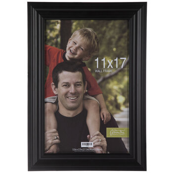 "Black Classic Wood Wall Frame - 11"" x 17"""