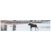 River Moose Canvas Wall Decor