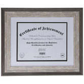 "Gray Beveled Document Frame - 11"" x 8 1/2"""
