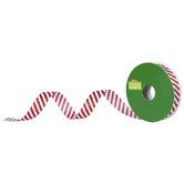 """White & Red Glitter Striped Ribbon - 5/8"""""""