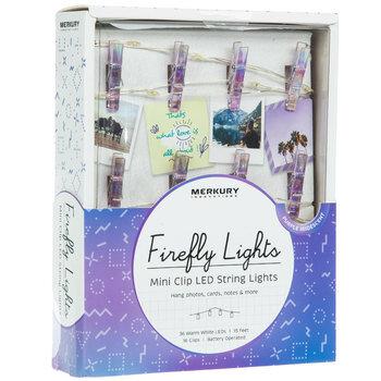Iridescent Purple Mini Clip LED Lights