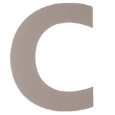 Chipboard Letter C - 8""