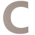 Chipboard Letter C - 8