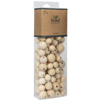 Unfinished Round Wood Bead Mix