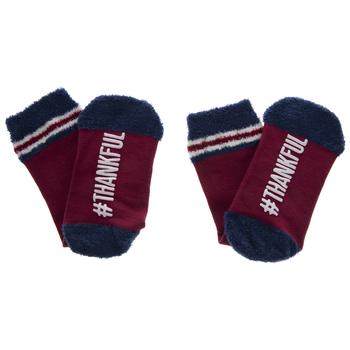 Red Hashtag Thankful Crew Socks