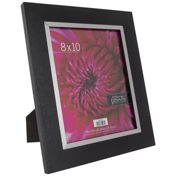 "Black Wood Frame With Silver Bezel - 8"" x 10"""
