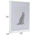 White Leopard Framed Wall Decor