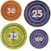 Numbered Bullseye Target Cutouts