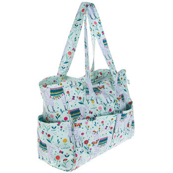 Mint Llama Tote Bag