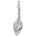 Sterling Silver Plated Falling Bloom Pendant