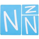 Fun Font Monogram Adhesive Stencils - N