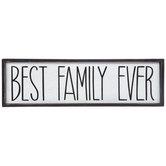 Best Family Ever Wood Decor