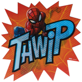 Spiderman Thwip Lenticular Wood Wall Decor