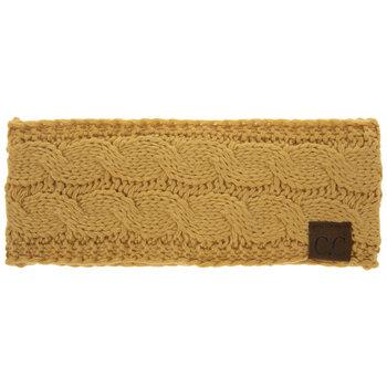 Honey Mustard C.C Cable Knit Headband