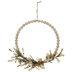 Wood Bead & Flower Wreath