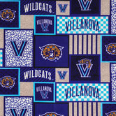 Villanova Block Collegiate Fleece Fabric