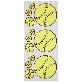 Softball Glitter Stickers