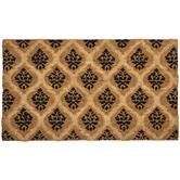 Embossed Trellis Coir Doormat