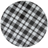 Black & White Plaid Plate Charger