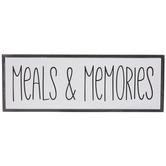 Meals & Memories Wood Decor