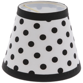 White & Black Polka Dot Mini Lamp Shade