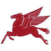 Mobile Pegasus Logo Metal Sign