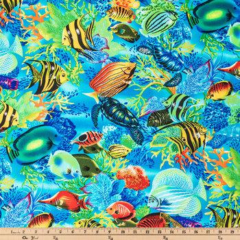Sea Life Paradise Cotton Calico Fabric