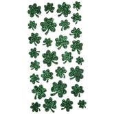 Shamrock Glitter Stickers