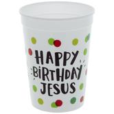 Happy Birthday Jesus Polka Dot Cups