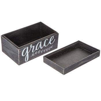 Black Amazing Grace Wood Box