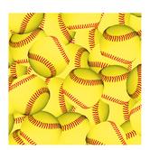 "Softballs Scrapbook Paper - 12"" x 12"""
