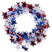 Red, White & Blue Star Tinsel Garland